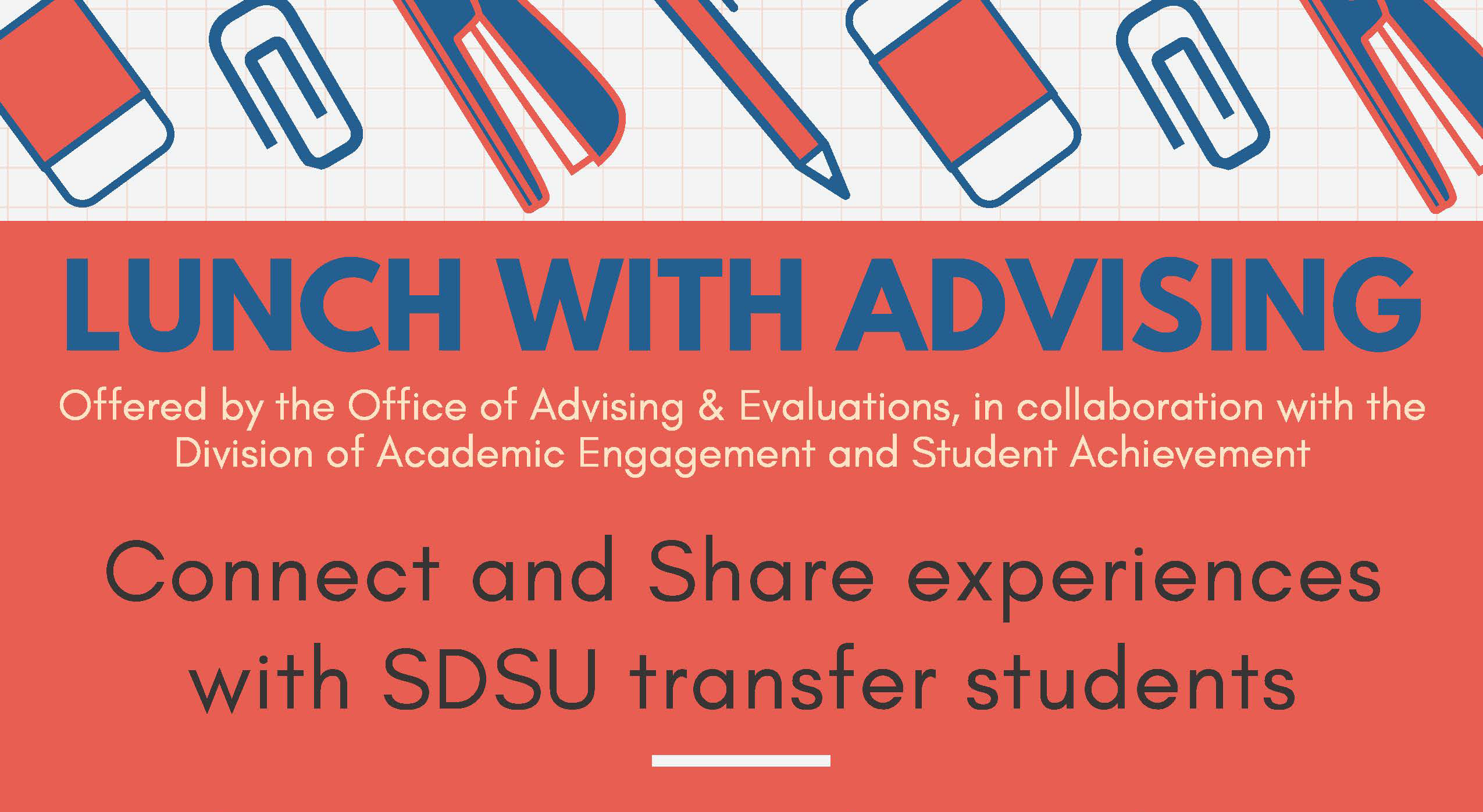 Flyer for lunch with advising event