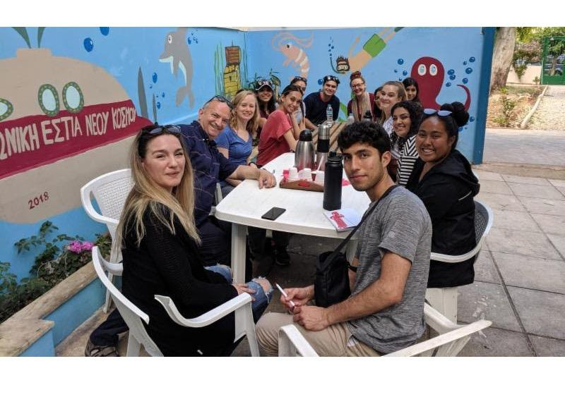 flyer to sign up for apply for Compact Scholars Greece Summer 2020 Application