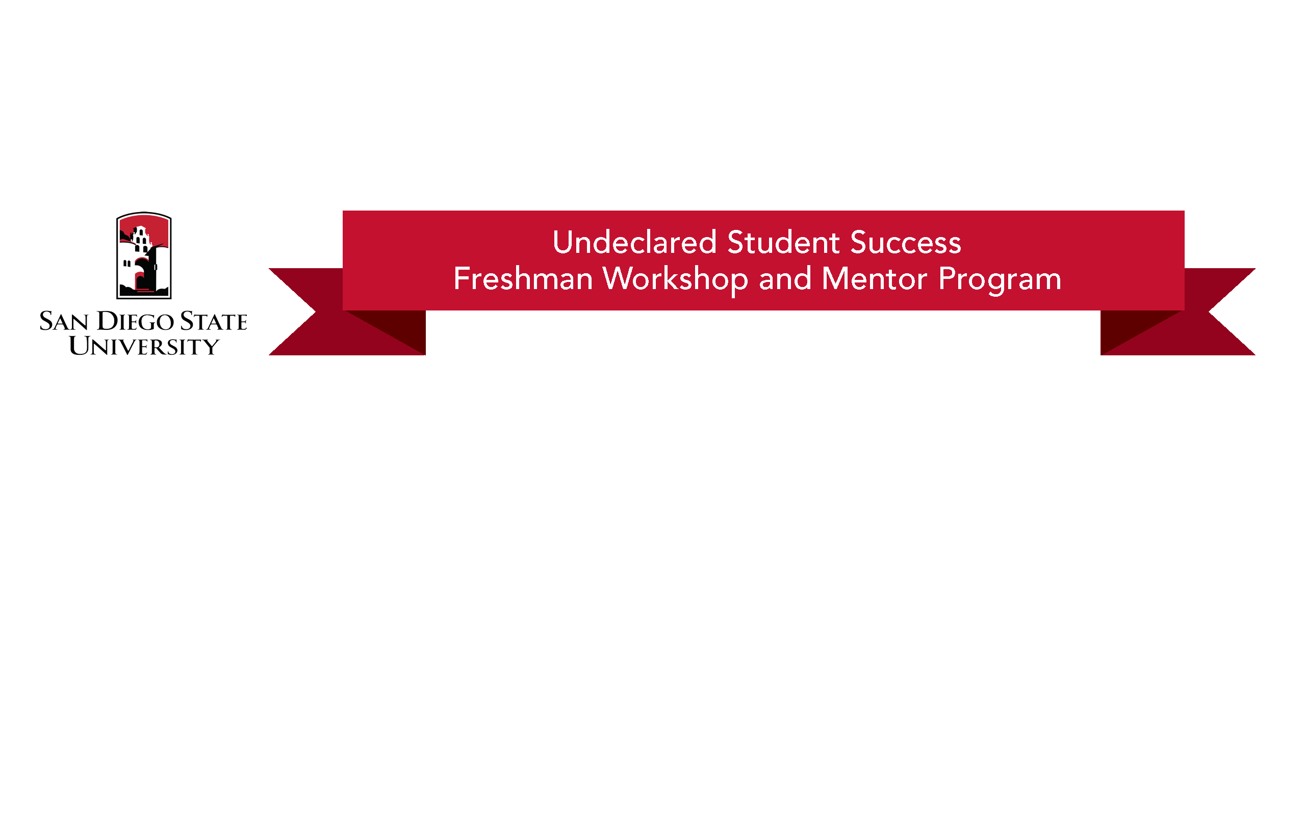 flyer to learn about upcoming Undeclared Student Success Workshops